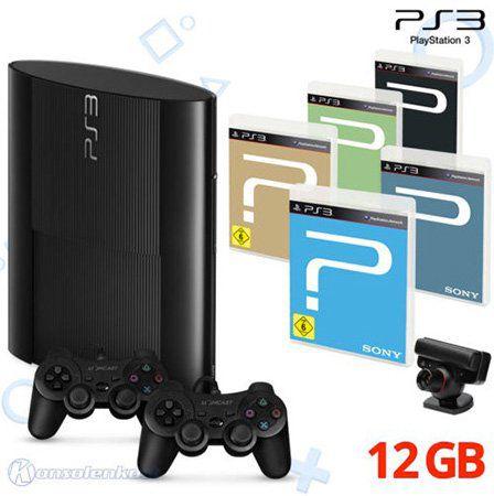 Playstation 3 Konsolen + 2 Controller + 5 Spiele + Eye Kamera für 114,99€
