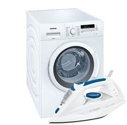 Siemens WM14K2ECO Waschmaschine mit 8kg + BOSCH Dampfbügeleisen für 379€ (statt 457€)