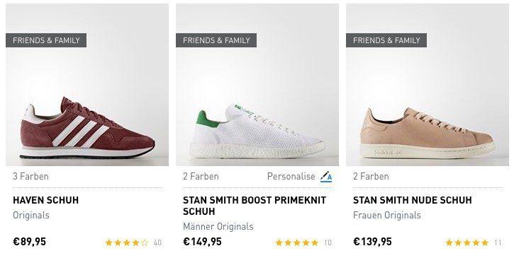 Nur heute! 25% Rabatt auf adidas Friends & Family Artikel + VSK frei ab 50€   TOP