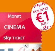Sky Cinema Ticket bis Ende Juni nur 2€ (statt 30€)   nur Neukunden