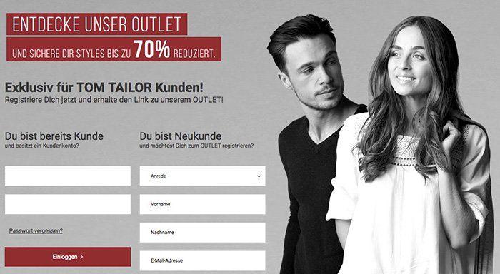 Tom Tailor Outlet mit bis zu 70% Rabatt