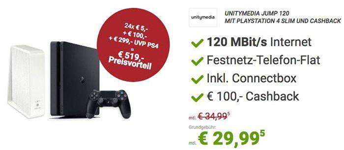 Sparhandy Oster Deals   z.B. Unitymedia 120 Mbit + PS4 slim nur 29€ mtl. oder Telekom 3GB LTE + Galaxy S8 nur 50€ mtl.