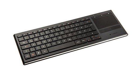 Logitech K830 Illuminated Living Room Tastatur mit Touchpad für 66€ (statt 80€)