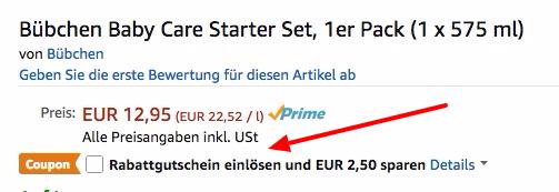 Bübchen Baby Care Starter Set ab 10,45€ (statt 17€)