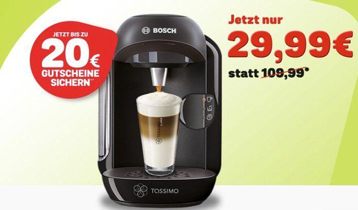 Tassimo Vivy Kapselmaschine + 20€ Gutschein nur 29,99€