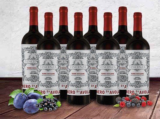8 Flaschen Cantina Cellaro Nero Rotwein für 39€ statt 95€
