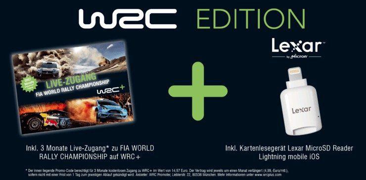 DJI Phantom 4 WRC Bundle mit Kartenleser + 3 Monate WRC Zugang für 949€ (statt 1.111€)