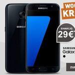 Samsung Galaxy S7 + o2 Allnet-Flat mit 1GB LTE für 21,36€ mtl.