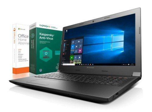 Lenovo 15,6 Zoll Notebook mit Win 10 Pro + Kaspersky Internet Security 2017 + Office 365 Home für 239€