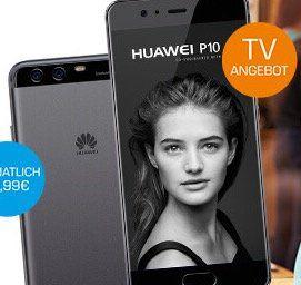 Huawei P10 Smartphone o. Samsung S7  + o2 Flat mit 1GB LTE (+ unendlich weitersurfen) für 25€ mtl.