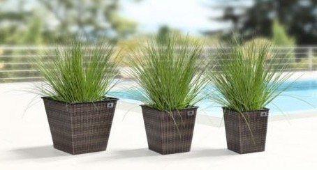 3er Set Gartenfreunde Polyrattan Pflanzenkübel ab 31,49€