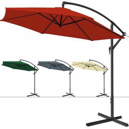 Deuba Alu Sonnenschirm mit Handkurbel für 44,40€ (statt 54€)