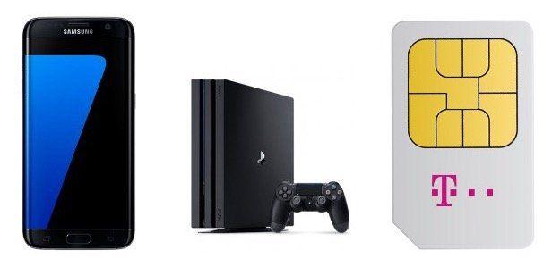 Playstation 4 Pro + Galaxy S7 Edge + Telekom Magenta Mobil M bis zu 6GB LTE für 55,74€ mtl.   inklusive StreamOn!