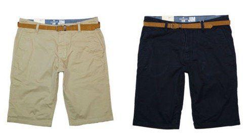 Tom Tailor Herren Chino Shorts mit Gürtel für 29,99€ (statt 36€)