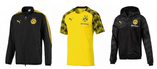 BVB Fanshop mit 19,09% auf Puma Textilien + VSK frei ab 30€   z.B. Präsentationsjacke für 56,60€ (statt 75€)