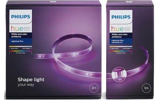 Philips Hue Lightstrip Plus 2 Meter + 1 Meter für 63,51€ (statt 104€)