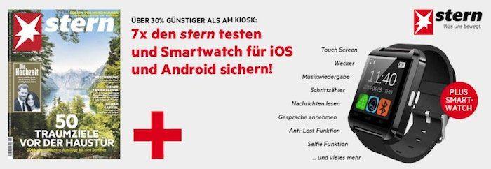 7 Ausgaben vom stern + Smartwatch für 21,90€