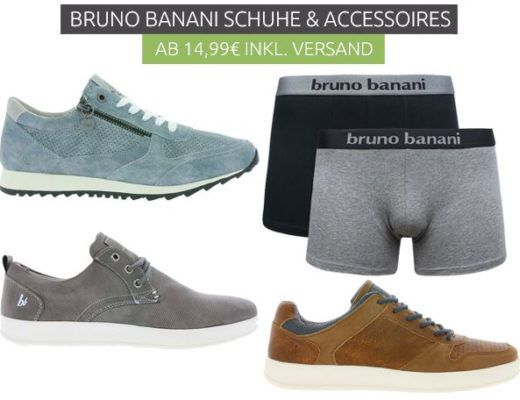 Bruno Banani mini Sale mit günstigen Damen und Herren Schuhen und Unterwäsche   Damen Riemchen Sandale statt 40€ für 27,99€