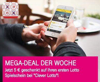 Nur für Telekom Kunden: 5€ Clever Lotto Spielguthaben gratis
