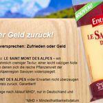 Le Saint Mont des Alpes Käse kostenlos testen dank Geld zurück Garantie