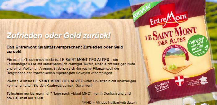 Le Saint Mont des Alpes Käse kostenlos testen