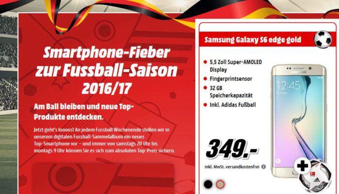 Samsung Galaxy S6 edge + Adidas Fußball für nur 349€!