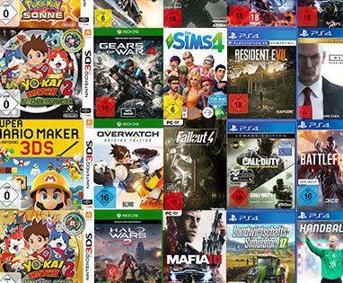 Media Markt: 4 für 2 Aktion   Konsolen & PC Spiele