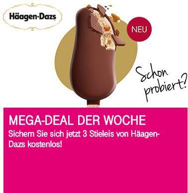 Nur für Telekom Kunden: 3x Häagen Dasz Stieleis gratis