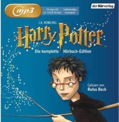 Harry Potter: Die komplette Hörbuch Edition   Gelesen von Rufus Beck (MP3 CD) für 45,04€ (statt 53€)