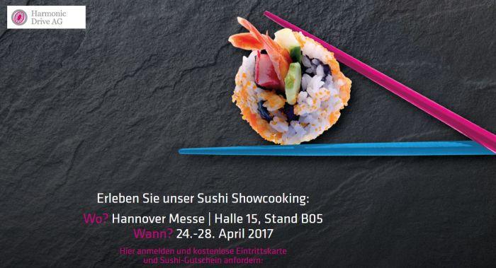 Gratis Ticket für die Hannover Messe 2017 inkl. Sushi Gutschein sichern   nur solange der Vorrat reicht