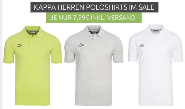 Herren Hemden & Polos Sale   z.B. Kappa Polos ab 7,99€