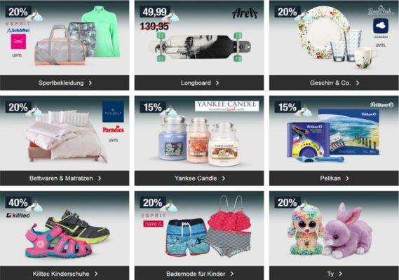 20% Rabatt auf Fischertechnik, Kinderwäsche, Sportbekleidung uvm.   Galeria Kaufhof Mondschein Angebote