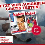 4 Ausgaben Kicker gratis – endet automatisch