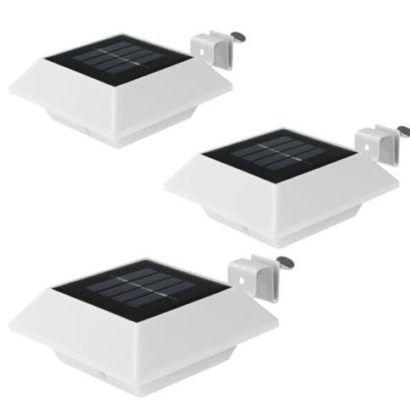 easymaxx Solar LED Dachrinnenleuchten im 3er Set für 14,99€