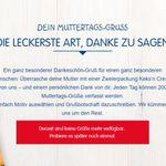 Leibniz Kekse mit Muttertags Gruß gratis   pro Tag 200 Stück verfügbar