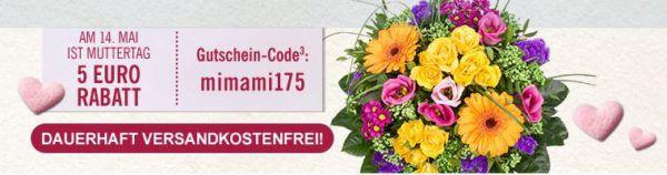 Letzte Chance! Lidl Muttertags Blumen mit 15% oder 5€ Gutschein + VSK frei