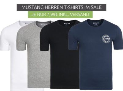 Mustang Herren Motiv T Shirts für nur 7,99€