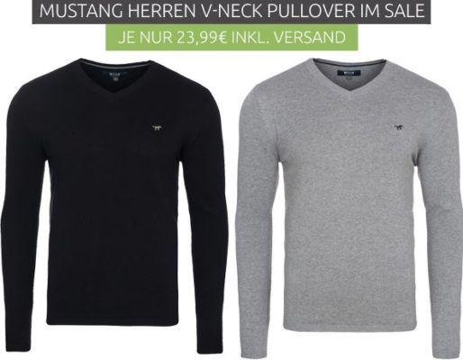 Mustang   Herren V Neck Pullover bis 2XL für je 23,99€ (statt 36€)