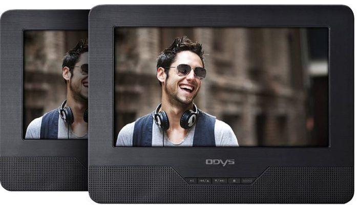 Odys Seal 7 Zoll TWIN Car   portabler DVD Player mit 2 Bildschirmen für 59,99€