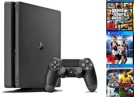 Playstation 4 Slim 500GB + 2ter Controller + 2 Spiele nach Wahl für nur 299€