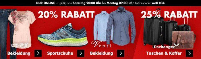 Karstadt Kracher mit z.B. 20% auf Düfte, Sportschuhe, Halsschmuck, Venti Fashion und mehr