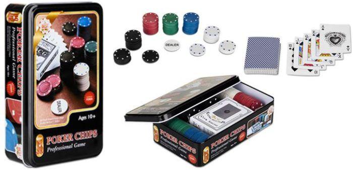 Casino Poker Set XXL 83 Teile + 2 weitere Gratisartikel für nur 5,97€