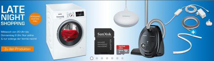 Saturn Late Night Shopping Übersicht   u.a.: Siemens VS06A110 Beutelstaubsauger  für 69,99€