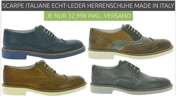 Scarpe Italiane Echtleder Schuhe für je 32,99€ (statt 45€)