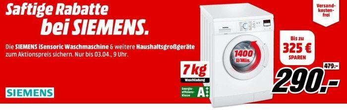 Media Markt Siemens: saftige Rabatt Aktion auf Haushalts Großartikel