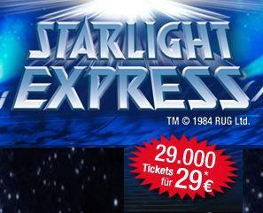 Knaller! Starlight Express Tickets ab nur 29€ (statt 86€) nur noch bis Mitternacht