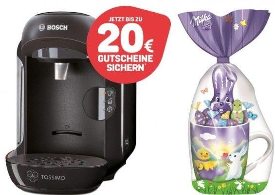 Oster Special: TASSIMO VIVY Kapselmaschine + 20€ Gutschein + Milka Tasse für 34,99€