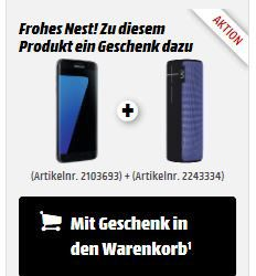 Samsung Galaxy S7 edge 32GB + UE Boom 2 Lautsprecher für 499€ (statt 586€)