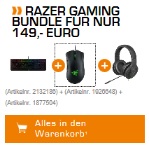 Razer BlackWidow X Bundle für 155,99€ (statt 260€)