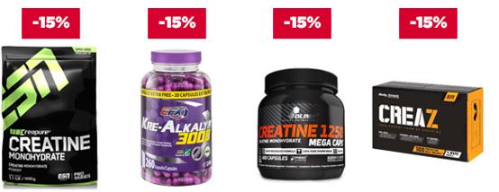 18% auf alle Proteine oder 15% auf Creatin Produkte und Aminosäuren bei fitmart